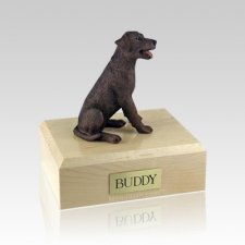 Labrador Chocolate Sitting Large Dog Urn