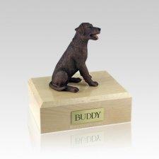 Labrador Chocolate Sitting Medium Dog Urn