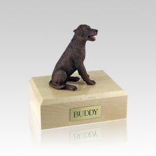 Labrador Chocolate Sitting Small Dog Urn