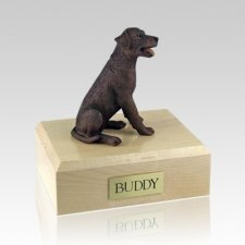 Labrador Chocolate Sitting Dog Urns