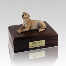 Labrador Golden Laying Large Dog Urn