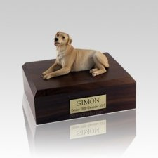 Labrador Golden Laying Medium Dog Urn