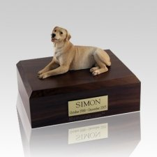 Labrador Golden Laying Dog Urns