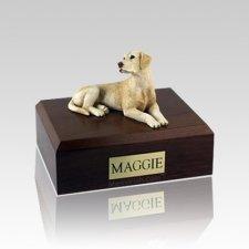 Labrador Yellow Laying Medium Dog Urn