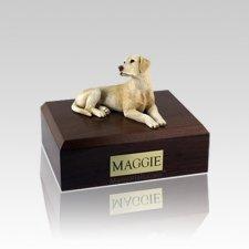 Labrador Yellow Laying Small Dog Urn