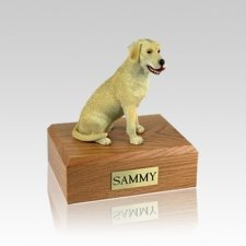 Labrador Yellow Playing Small Dog Urn