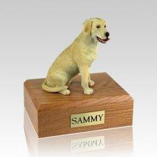 Labrador Yellow Playing Dog Urns