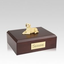 Labrador Yellow Resting Medium Dog Urn