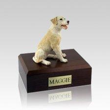 Labrador Yellow Sitting Medium Dog Urn