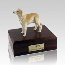 Labrador Yellow Standing Large Dog Urn