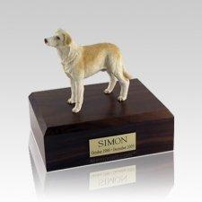Labrador Yellow Standing Medium Dog Urn