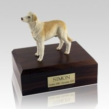 Labrador Yellow Standing Dog Urns