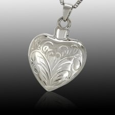 Lace Heart Cremation Pendant III