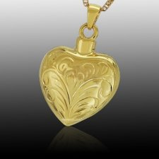 Lace Heart Cremation Pendant IV