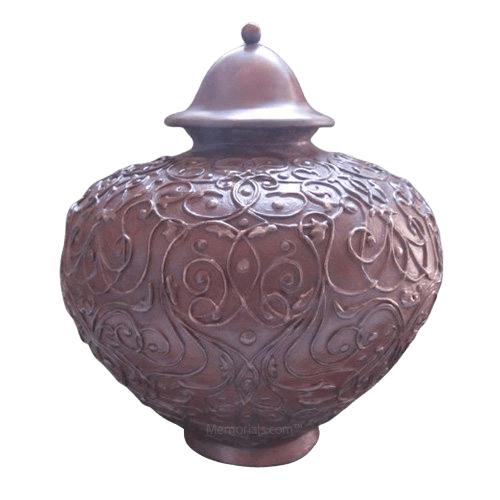 Lacework Bronze Cremation Urn