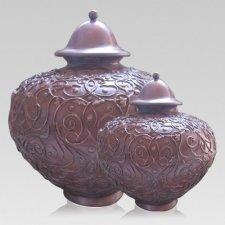 Lacework Bronze Cremation Urns