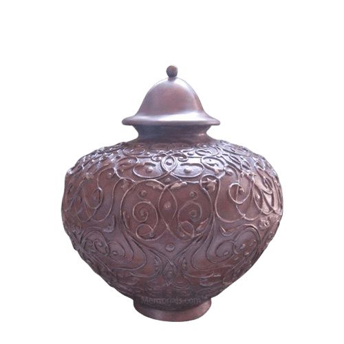 Lacework Bronze Medium Cremation Urn
