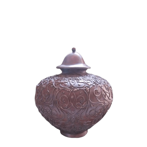 Lacework Bronze Small Cremation Urn