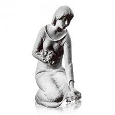 Lady with Flowers Marble Statues