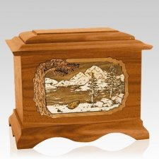 Lakeside Mahogany Cremation Urn