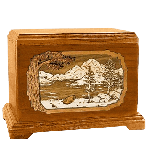 Lakeside Mahogany Hampton Cremation Urn
