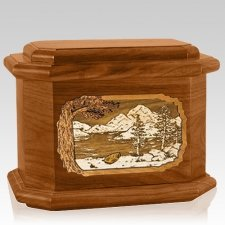 Lakeside Mahogany Octagon Cremation Urn