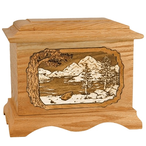 Lakeside Oak Cremation Urn