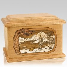 Lakeside Oak Memory Chest Cremation Urn