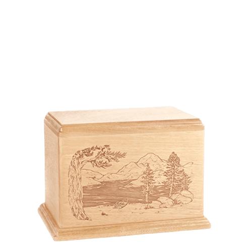 Lakeside Small Maple Wood Urn