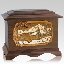 Lakeside Walnut Cremation Urn