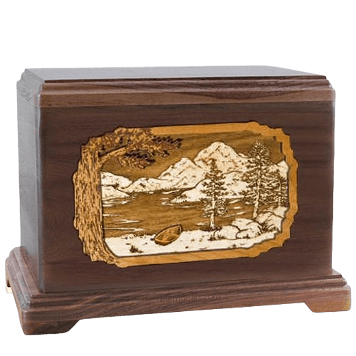 Lakeside Walnut Hampton Cremation Urn