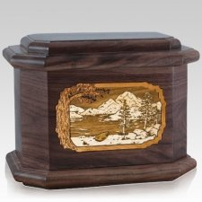 Lakeside Walnut Octagon Cremation Urn