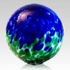 Land & Sea Glass Cremation Urn