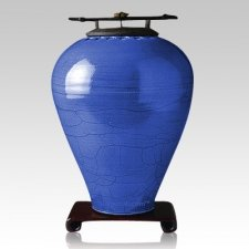 Raku Tall Lapis Cremation Urns