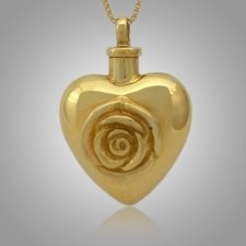 Large Rose Heart Cremation Jewelry II