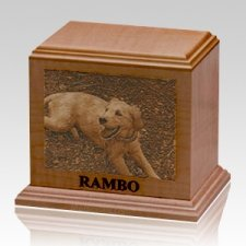 Laser Etched Cherry Pet Urns