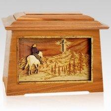 Last Horse Ride Mahogany Aristocrat Cremation Urn
