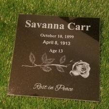 Last Rose Granite Memorial Stone