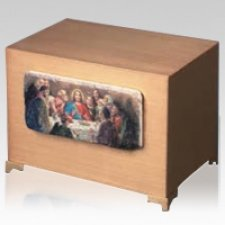 Last Supper Bronze Cremation Urn