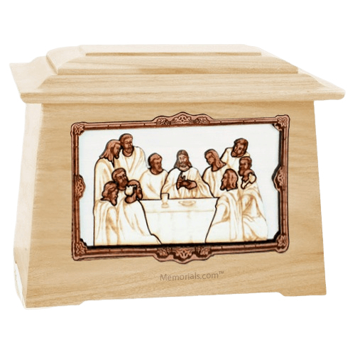 Last Supper Maple Aristocrat Cremation Urn