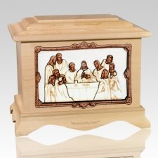 Last Supper Maple Cremation Urn