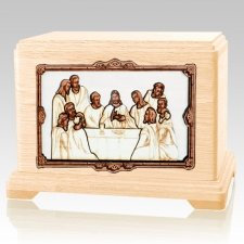 Last Supper Maple Hampton Cremation Urn