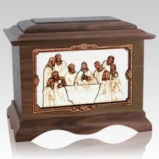 Last Supper Walnut Cremation Urn