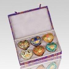 Lasting Hearts Cloisonne Cremation Urns