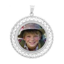 Lattice Silver Photo Jewelry