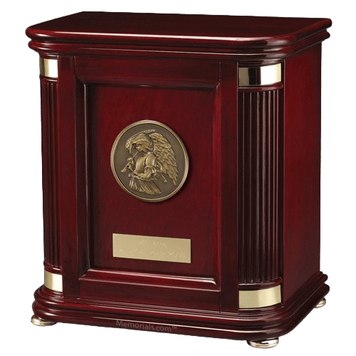 Laudation Angel Wood Cremation Urn