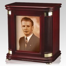 Laudation Photo Wood Cremation Urn