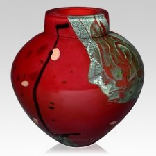 Lava Glass Cremation Urn