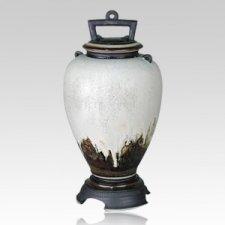Glacier Ceramic Cremation Urn