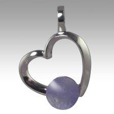 Lavender Amore Cremation Ash Pendant
